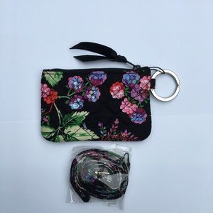 Vera Bradley Id case and lanyard set new with tag